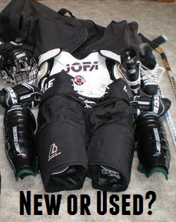 buying used hockey equipment