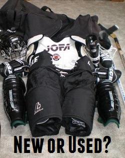 buying used hockey equipment