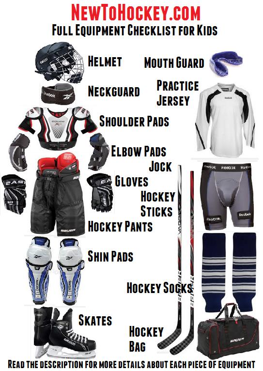 Hockey Equipment list for children