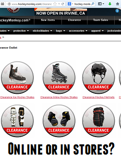 hockey equipment online