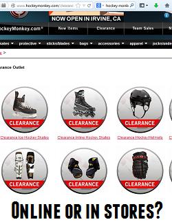 hockey equipment online