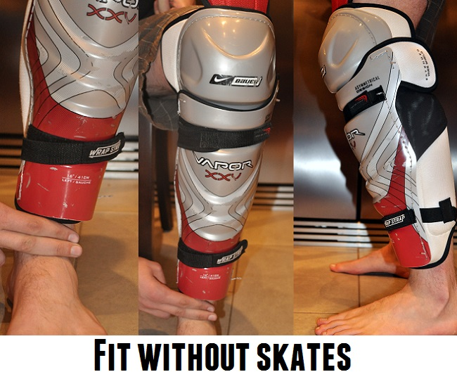 fitting shin guards for hockey