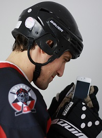 hockey-player-phone