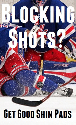 shin guards blocking shots