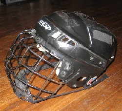 used hockey helmet