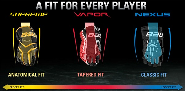different fits hockey gloves