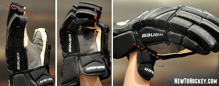 fitting hockey gloves