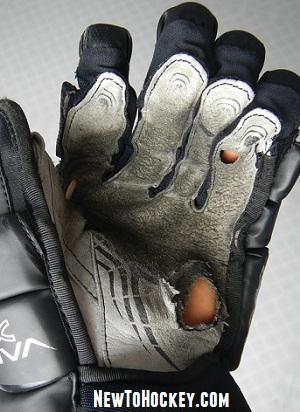 hockey glove maintenance and wear