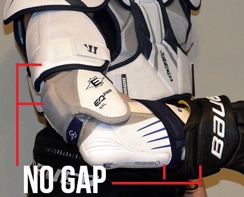 """1c4b8f98a06 Borrowing the above picture from our elbow pad fitting article you can see  the """"gapless arm"""". With properly fitting equipment the should be little to  no gap ..."""