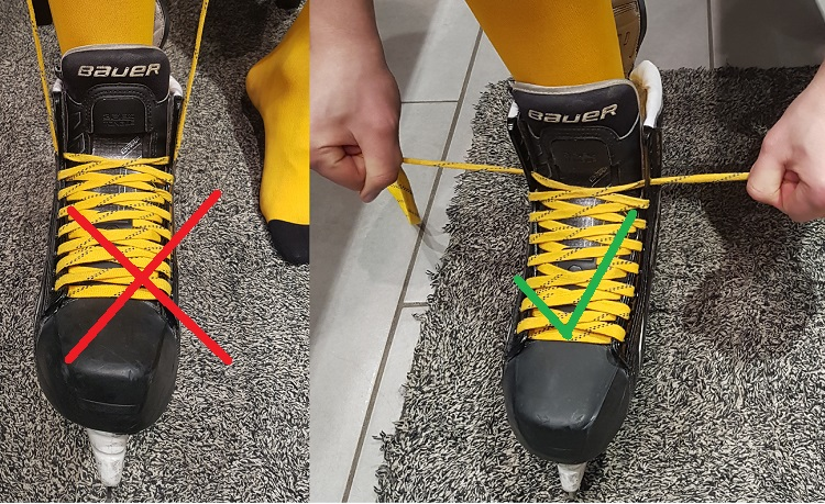 how to break in new ice hockey skates
